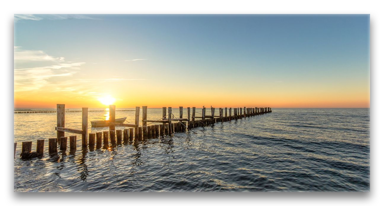 sonnenuntergang strand zingst ii 2 1 ostsee auf leinwand. Black Bedroom Furniture Sets. Home Design Ideas